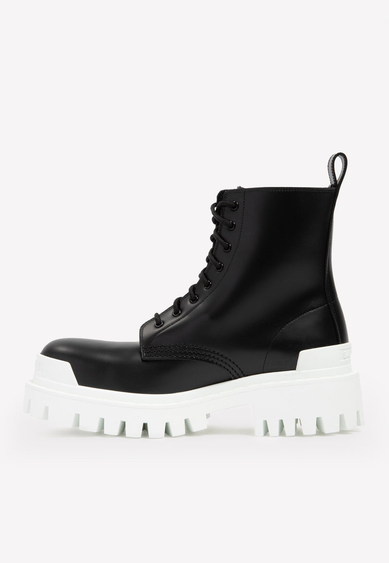 Strike Lace-up Lug Boots in Calf Leather