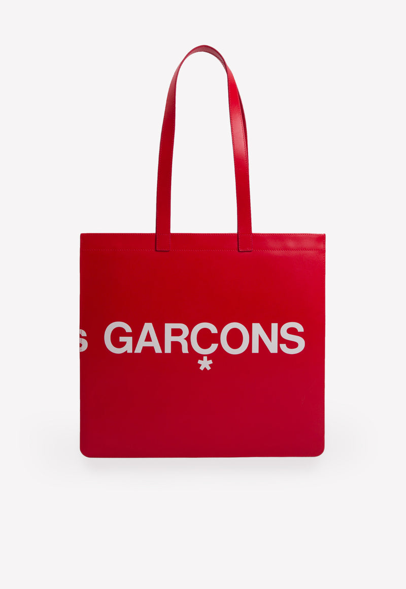 Big Logo Tote Bag in Leather