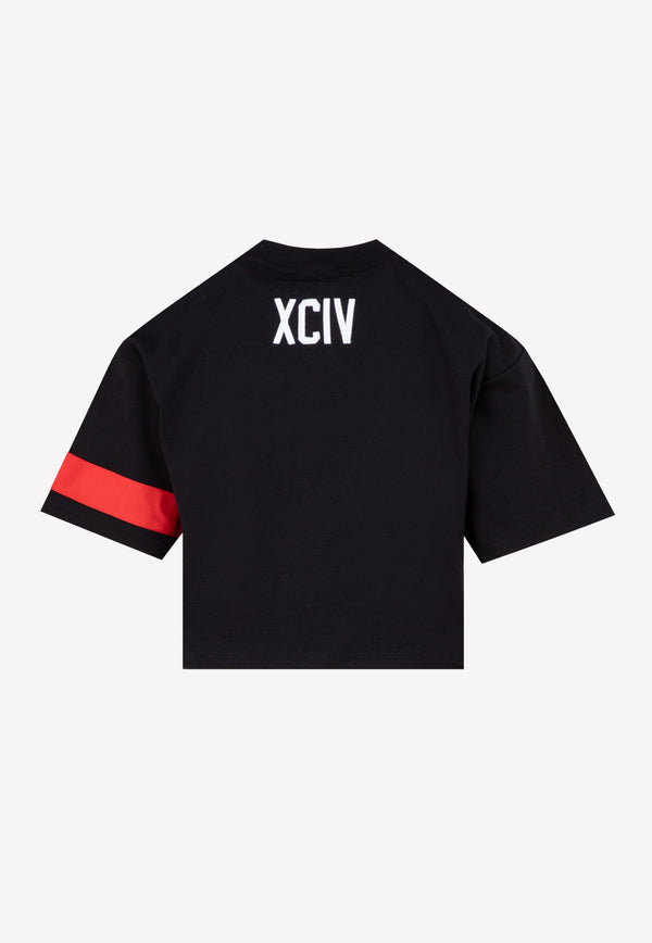 Cropped Short-sleeved Logo T-shirt