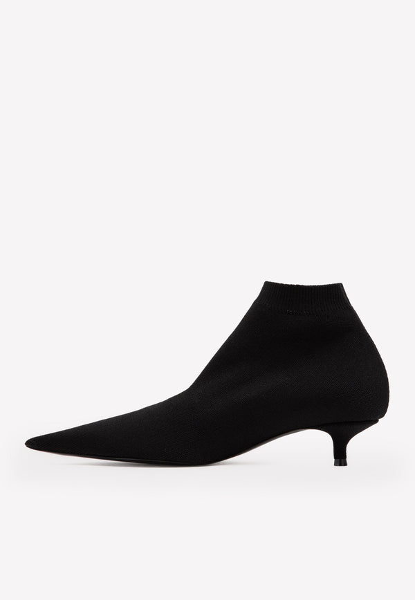 Knife Stretch Knit Ankle Boots