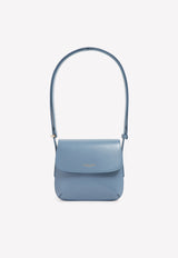 Logo Stamp Small Shoulder Bag in Leather