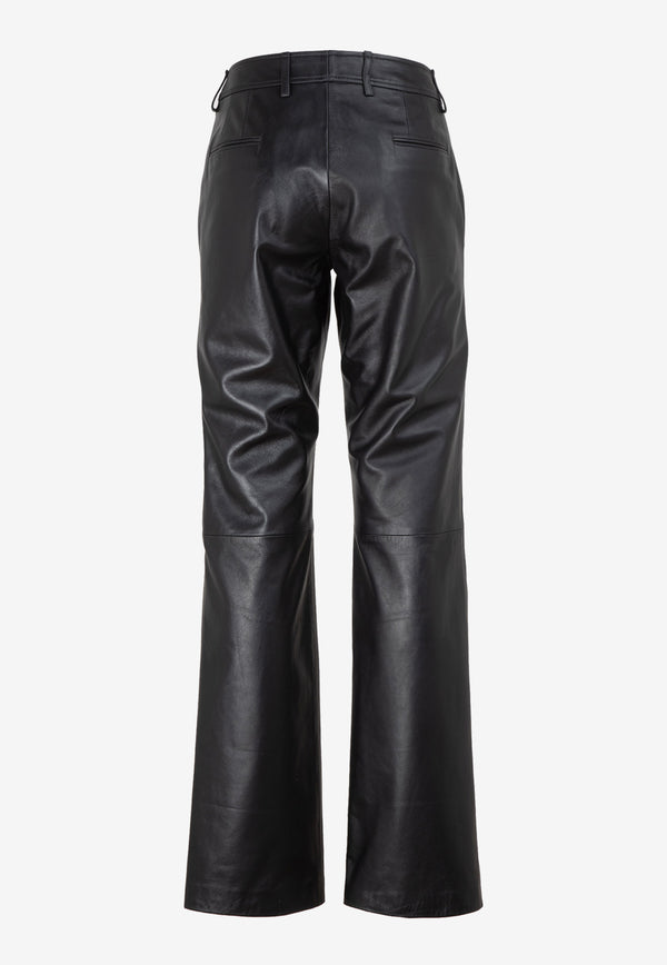 Kelly Flared Leather Pants