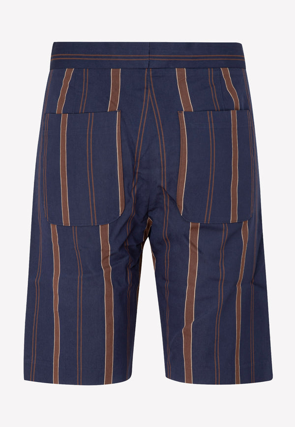 Paul Smith Viscose Shorts -  Navy