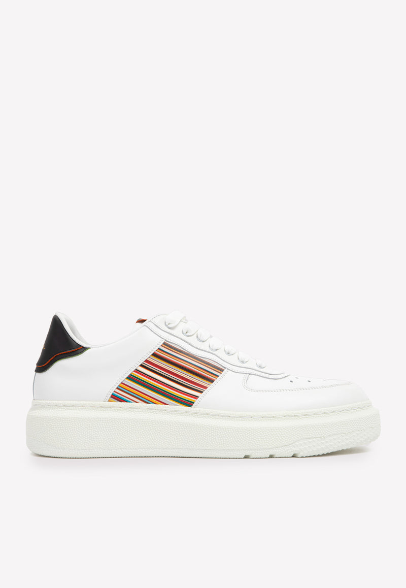 Paul Smith Leather Sneakers -  White Multi