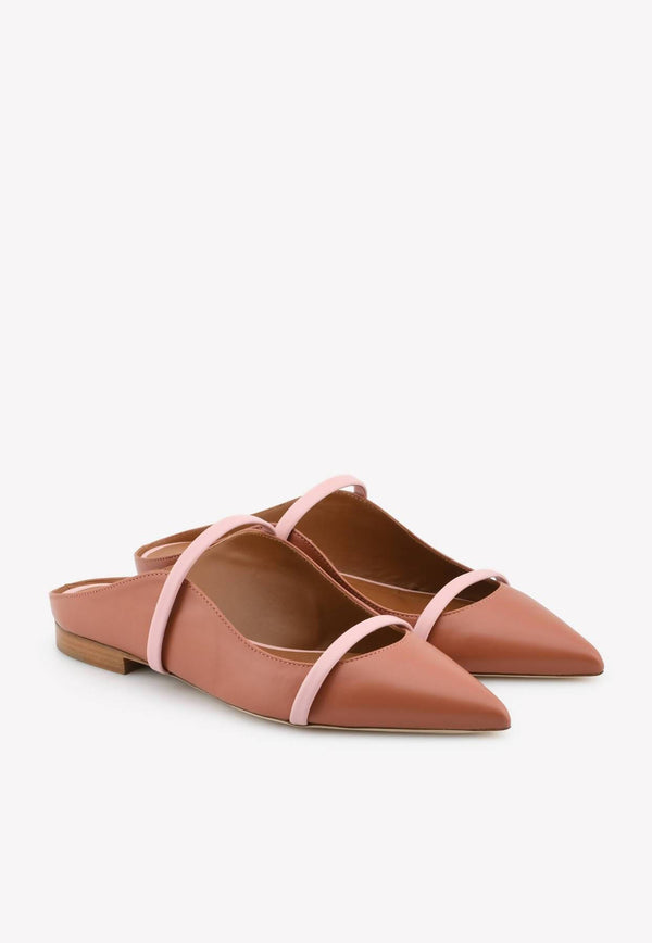 Maureen Nappa Leather Flat Mules-H