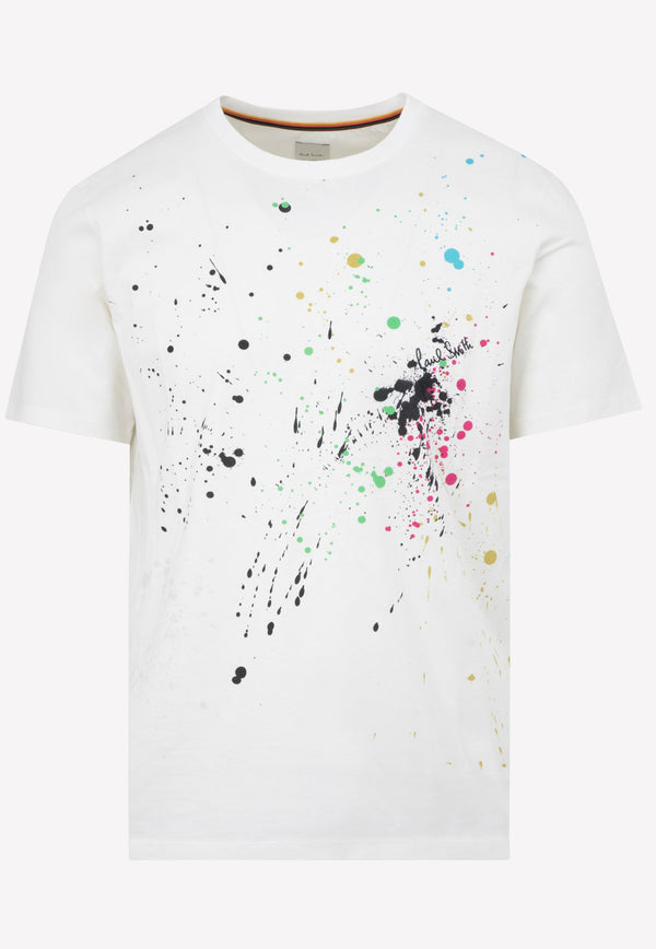 Paul Smith Multicolor Cotton T-shirt -  White