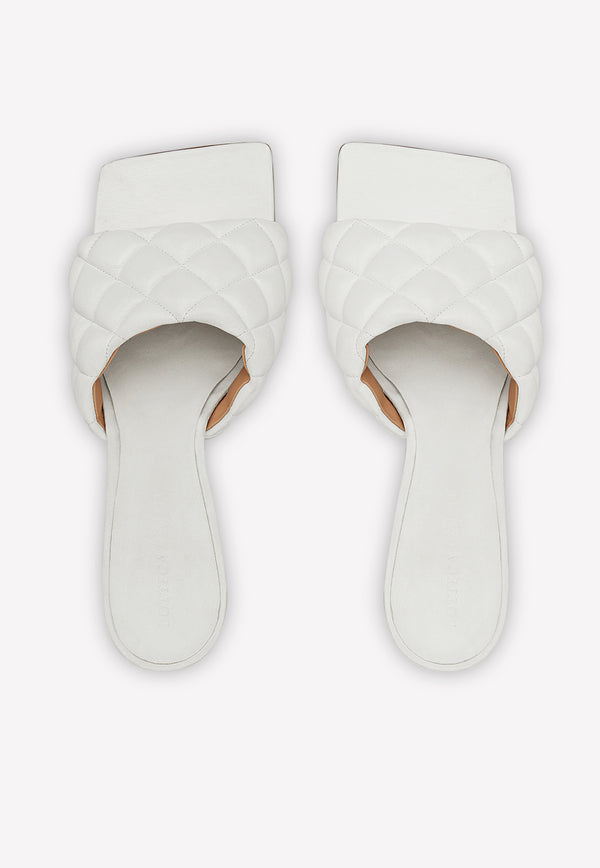 Square Toe 90 Sandals in Soft Quilted Nappa Leather