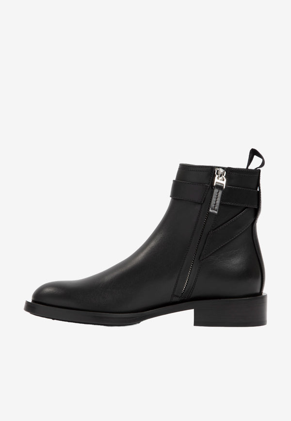 Givenchy Padlock Ankle Boots in Calfskin Black BE602PE0YP-001 BLACK