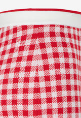 Gingham Check Wool Shorts
