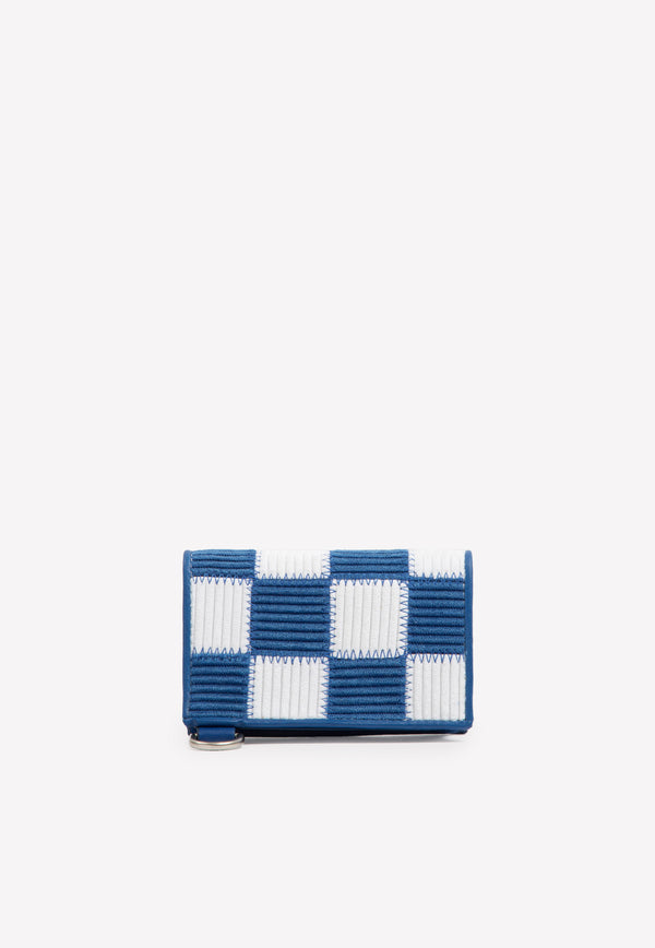 Le Porte Azur Checkered Shoulder Bag