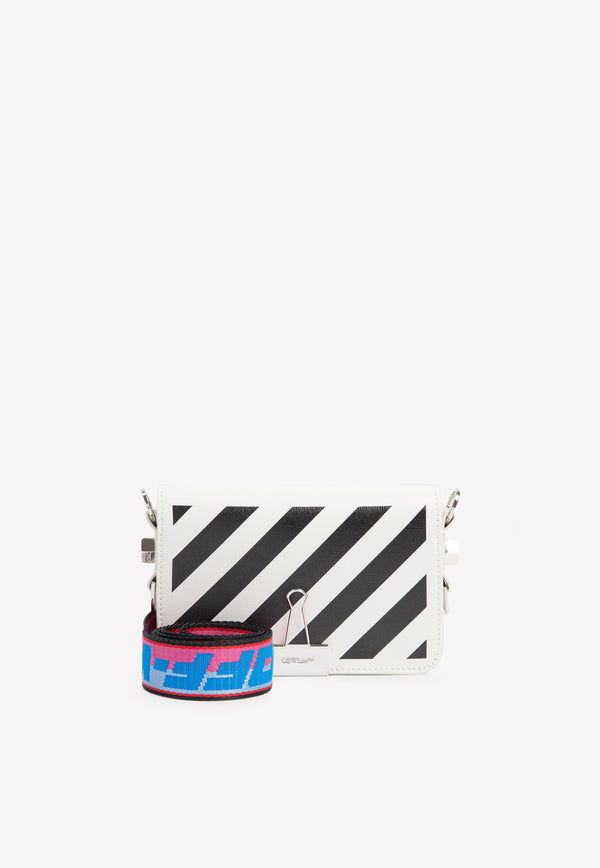 Diag Mini Flap Shoulder Bag in Leather