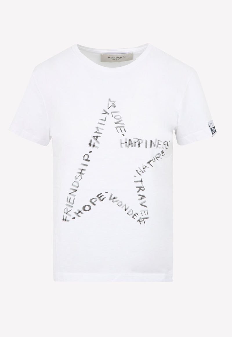 Ania Star Print Cotton T-shirt