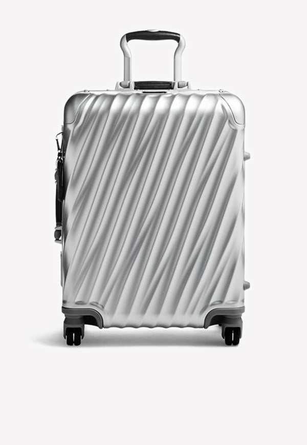 19 Degree Aluminum Continental Carry-On- Silver