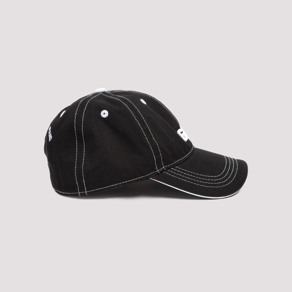 Logo Baseball Cap with Contrast Stitching