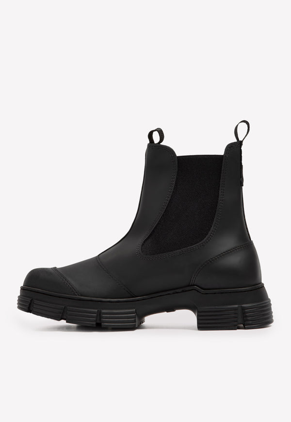 City Rubber Ankle Boots