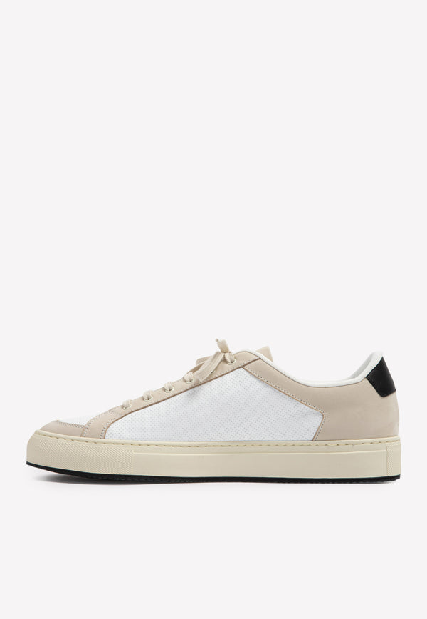 Retro '70s Perforated Leather Sneakers