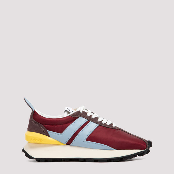 Lanvin Running Sneakers -  Burgundy Light Blue