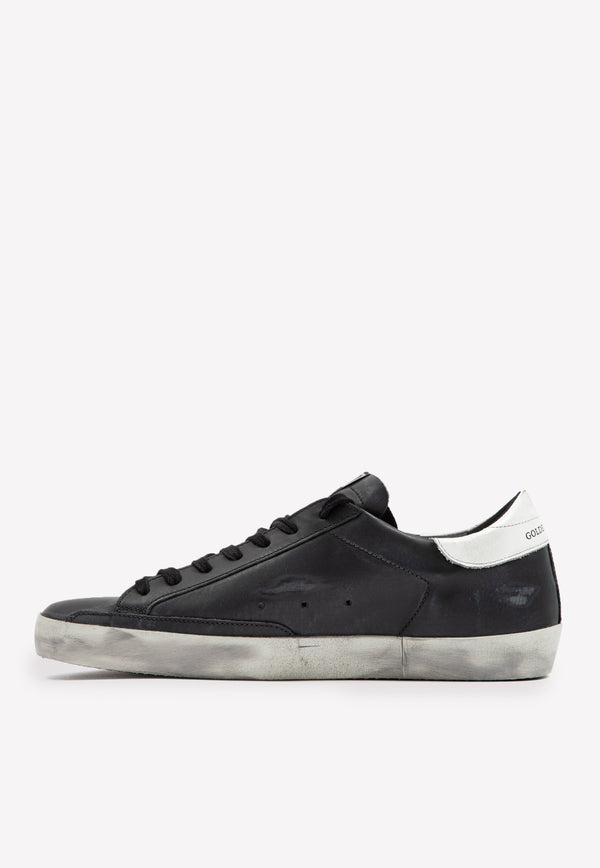 Superstar Leather Sneakers with White Star