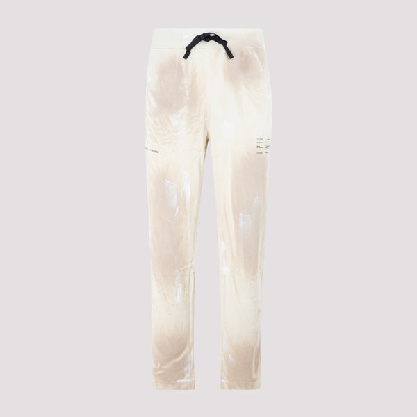 Tie-dye Printed Sweatpants with Contrasting Drawstring