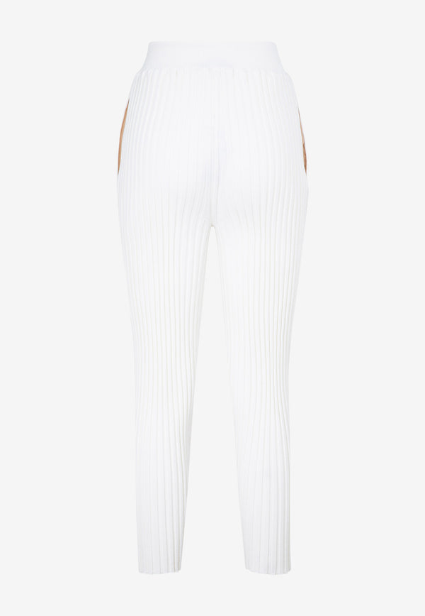 High-Waist Rib-Knit Leggings in Wool Blend