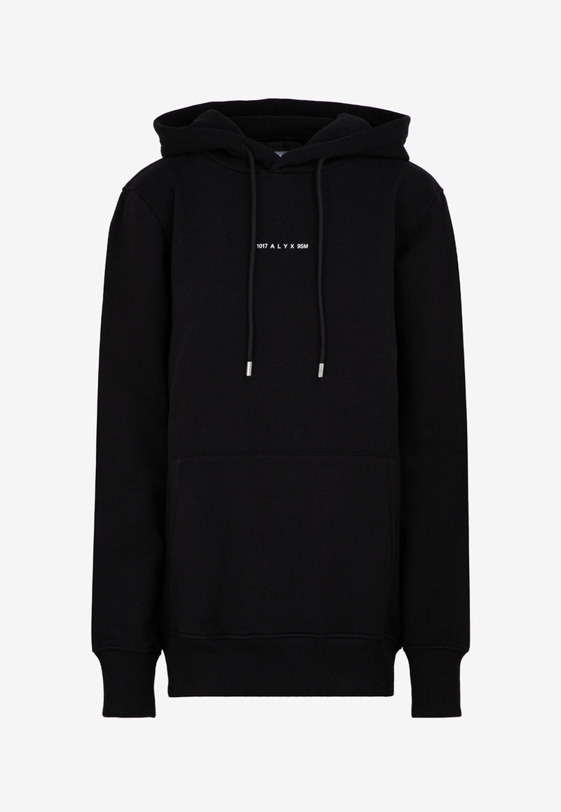 Basic Drawstring Hoodie with Logo Embroidery