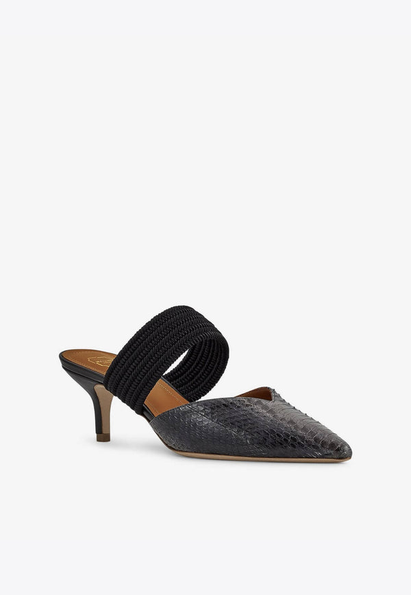 Maisie 45 Mules in Elaphe Leather-E