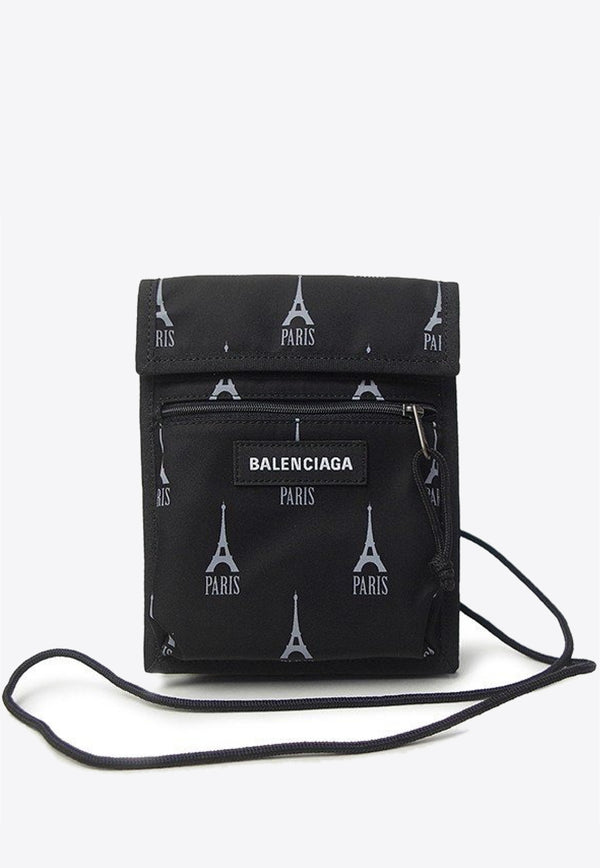 Eiffel Tower-Paris Print Explorer Pouch Strap
