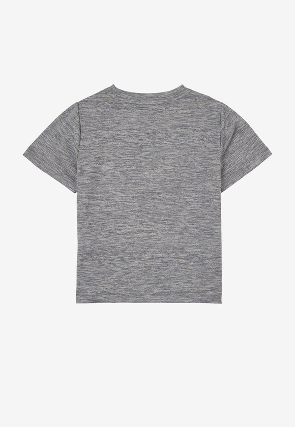Stella McCartney Kids Boys Space Dye Logo T-shirt Grey 602241SQKE2PALE GREY