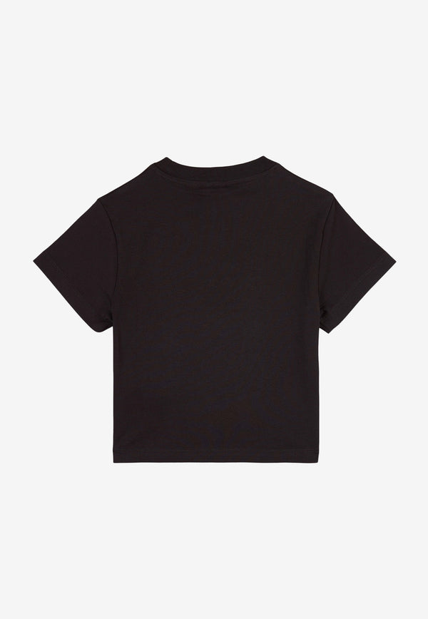 Stella McCartney Boys Palm Print Cotton T-shirt Black 602253SQJ52BLACK