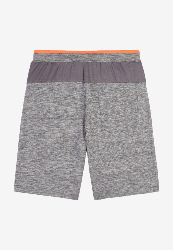 Stella McCartney Boys Space Dye Logo Shorts Grey 602257SQK48PALE GREY