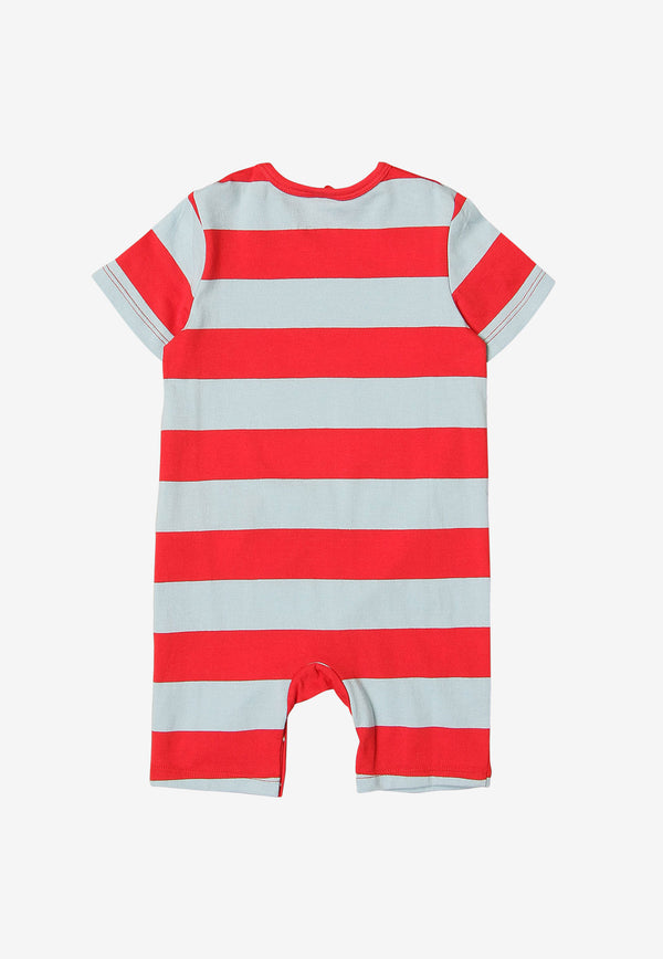 Stella McCartney Baby Striped Pirate Print Onesie Red 602304SQJ68RED MULTI