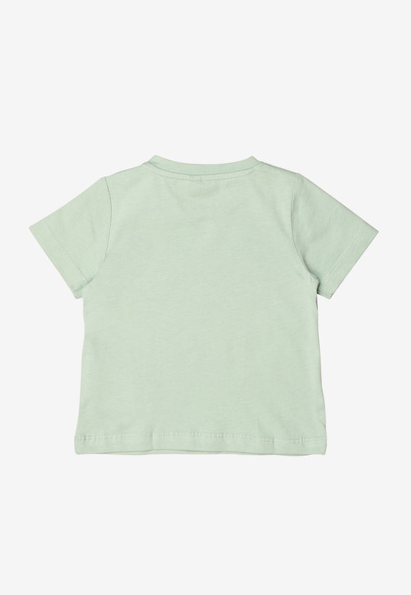 Stella McCartney Baby Butterfly Print Cotton T-shirt Green 602597SQJC1MINT