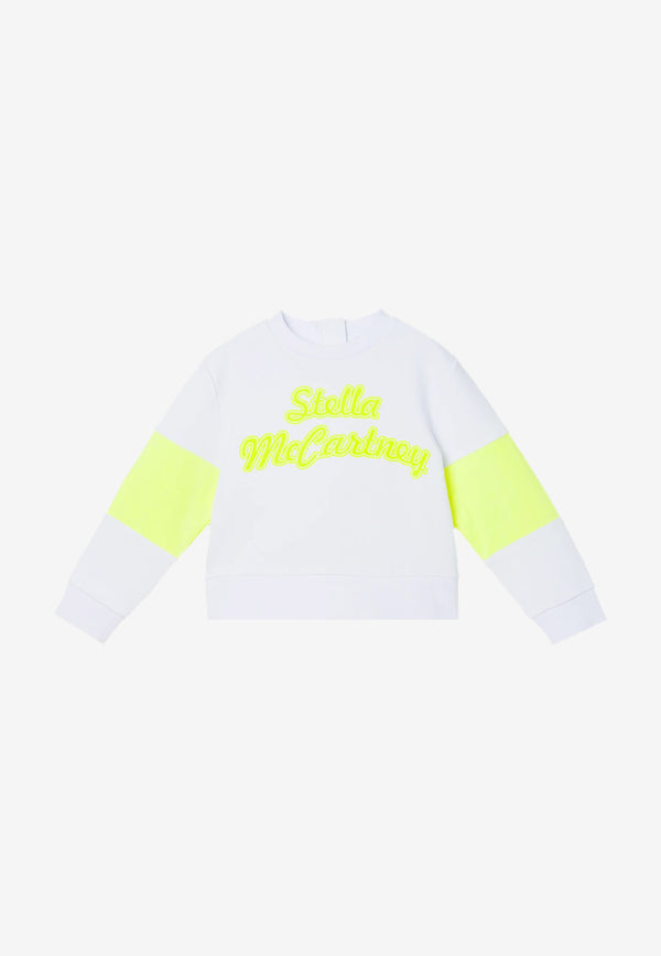 Stella McCartney Girls Logo Print Sports Sweater White 602630SQJ04WHITE MULTI