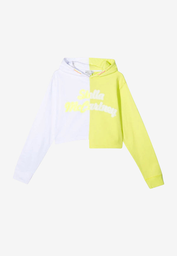 Stella McCartney Girls Logo Print Hooded Sports Sweater White 602632SQJ04WHITE MULTI