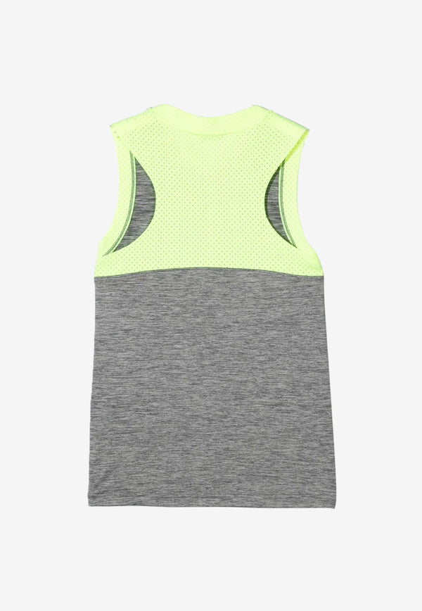 Stella McCartney Girls Space Dye Logo Sports Vest Grey 602637SQK51GREY