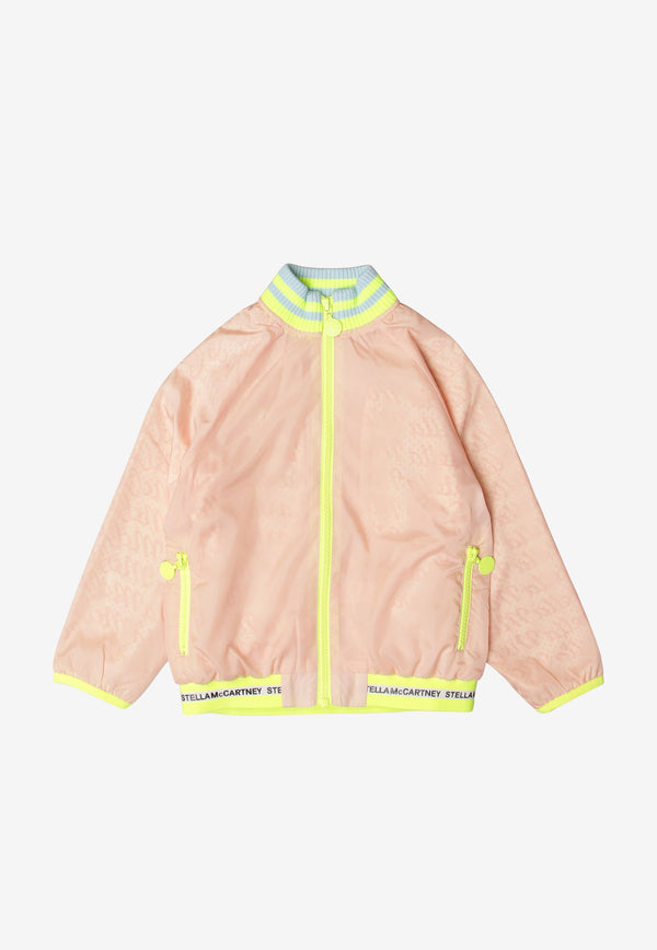 Stella McCartney Kids Girls Nylon Sports Jacket Pink 602665SQK45BLUSH