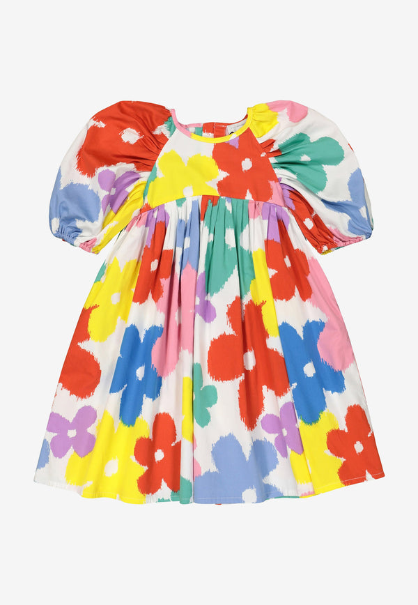 Stella McCartney Kids Girls Floral Print Cotton Dress Multicolor 602782SQKA4MULTICOLOUR