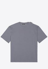 Cotton Jersey T-Shirt with Logo Tab