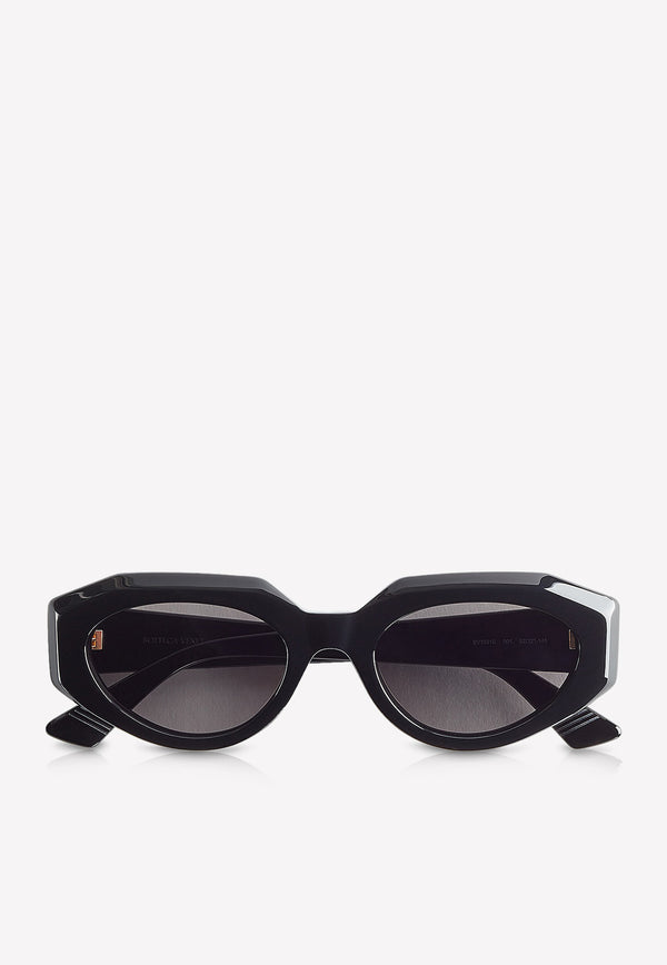 Full-Rim Oval Sunglasses