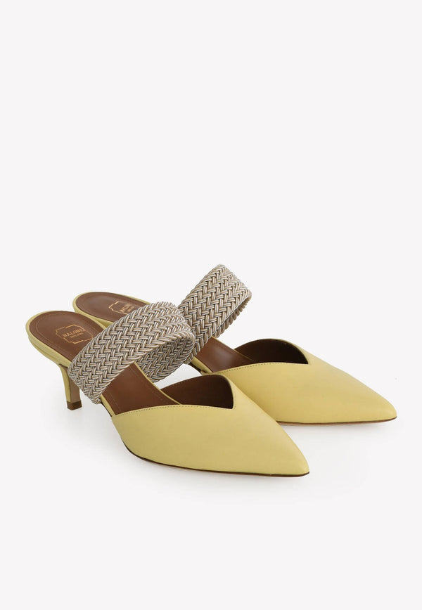 Maisie 45 Nappa Leather Mules-H