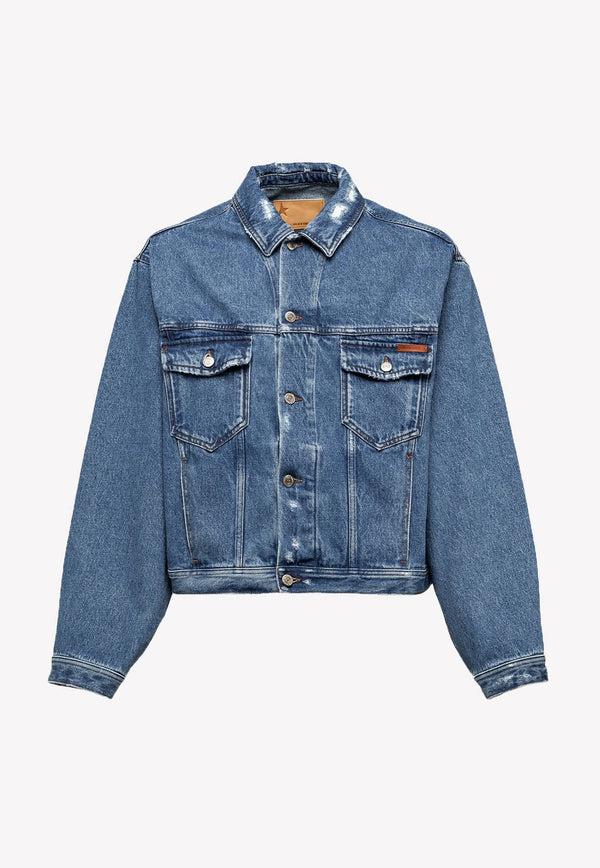 Bruce Jacket in Used-effect Denim