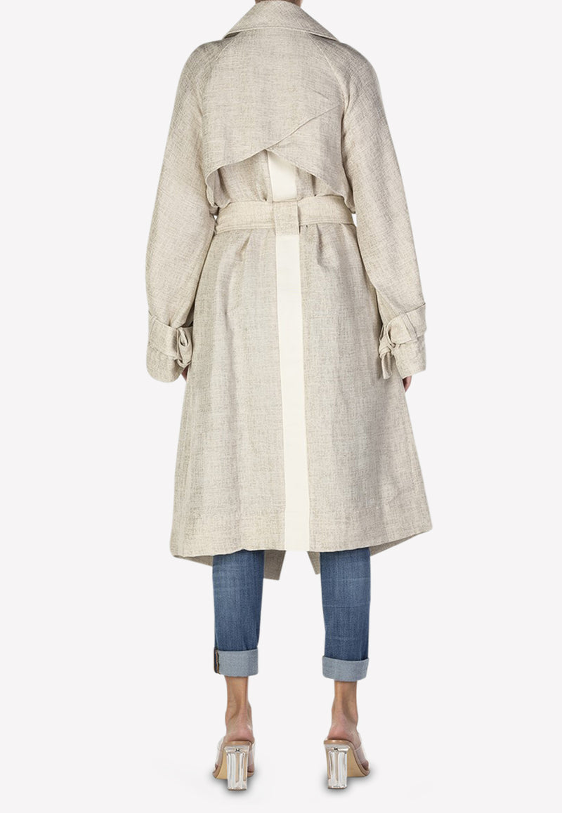 Reece Oversized Linen Trench Coat
