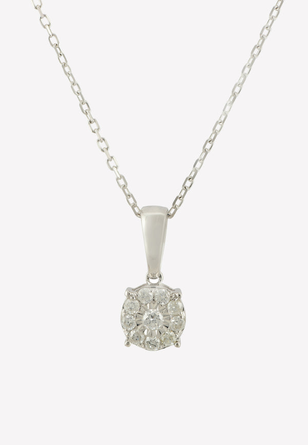 0.11 ct Diamond Stud White Gold Necklace