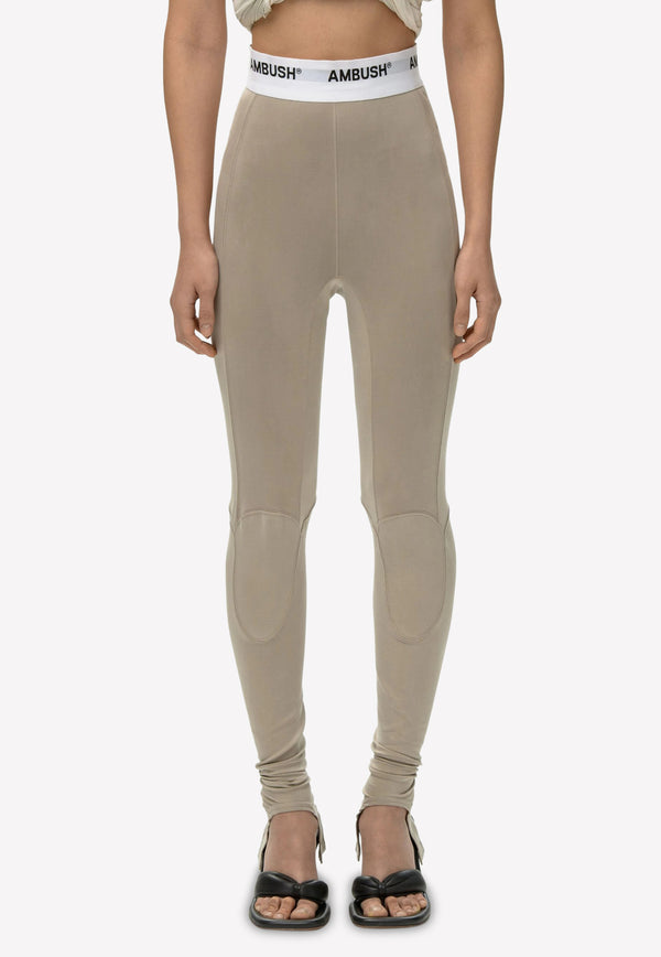 Panelled Cupro Leggings