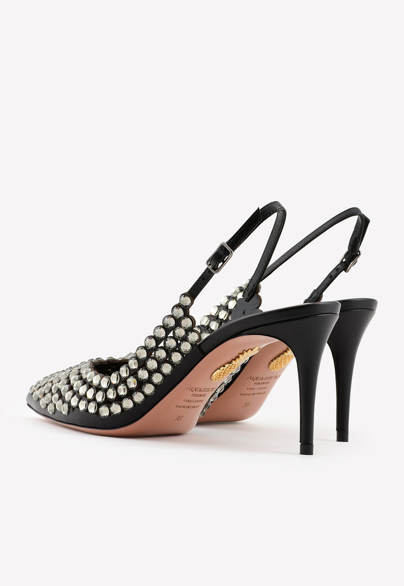Tequila 105 Crystal-Embellished Pumps in Nappa Leather