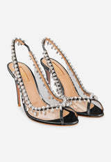 Temptation 105 Leather Crystal Sandals