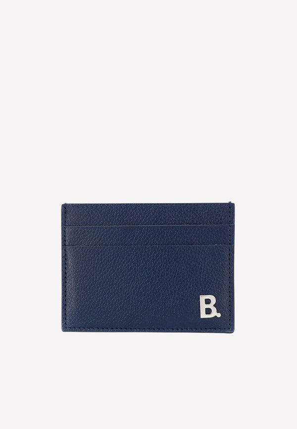 Calfskin Cardholder with Bold Logo Plaque