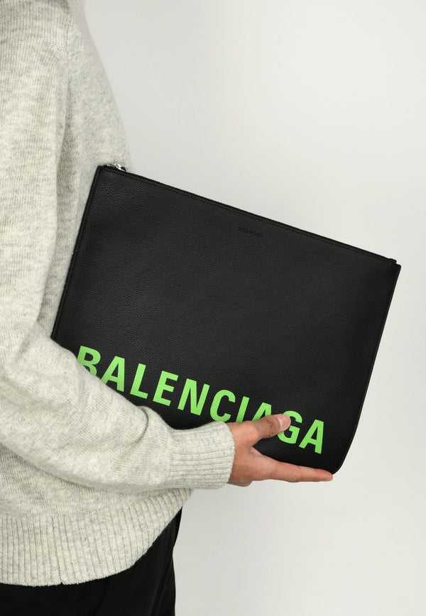 Large Cash Pouch in Calfskin