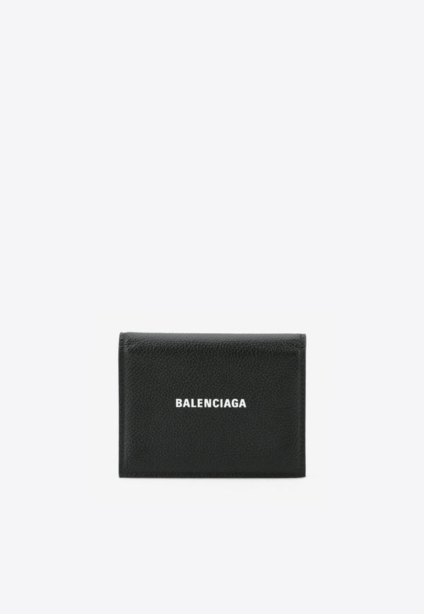 Bi-Fold Leather Wallet with Chain Detail
