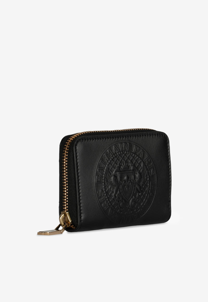 Leather Logo Embossed Coin Purse